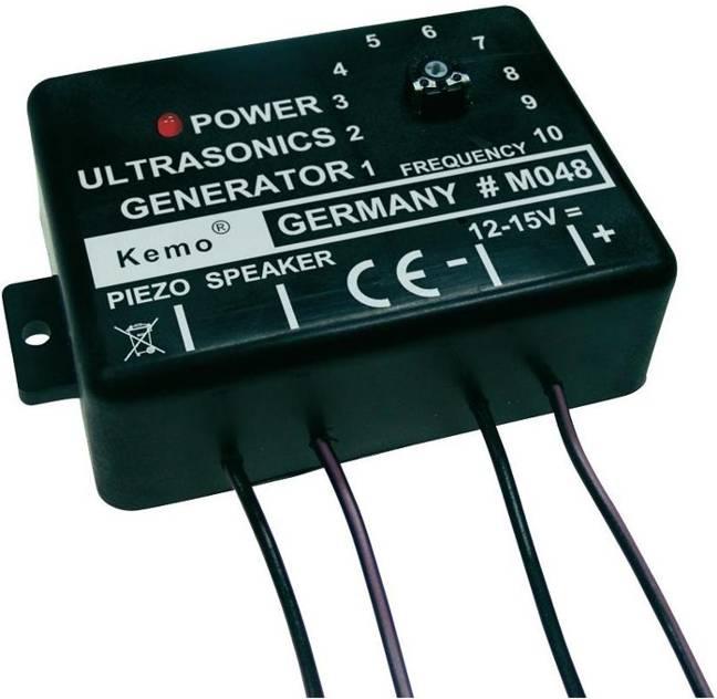 Ultrazvukový generátor 12-15V/ 10-40kHz M048 odpuzovač zvěře