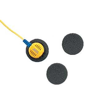 Návleky na sluchátka 2ks pr.18x8mm barva černé