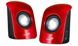 Repro SP-U115 1.5W 2+0 Genius červené 80dB nap.pres USB 5V