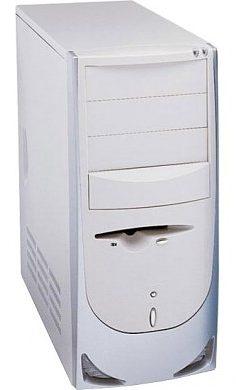 PC skřín Codegen 6016 350W ATX Midi Tower bílo-stříbrna