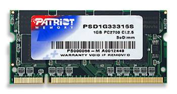 DDR 1024MB/333MHz CL2.5 Patriot SODIMM pro notebooky