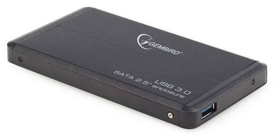 """Gembird externí case 2.5"""" USB 3.0, SATA, hliník černý"""