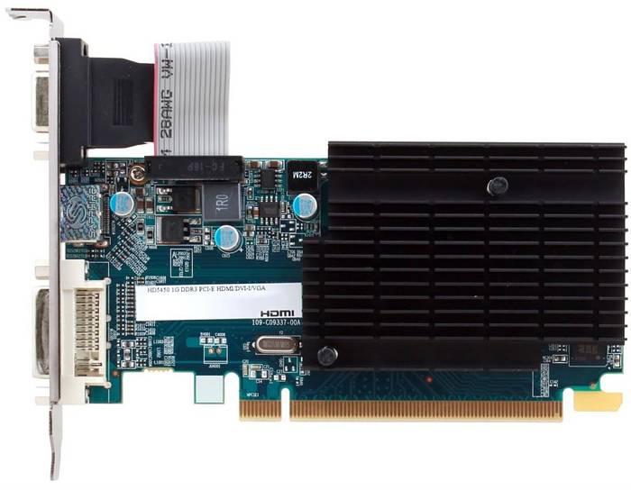 Saphire Radeon HD5450 1GB DDR3 64b. HDMI,DVI-D,VGA,BULK