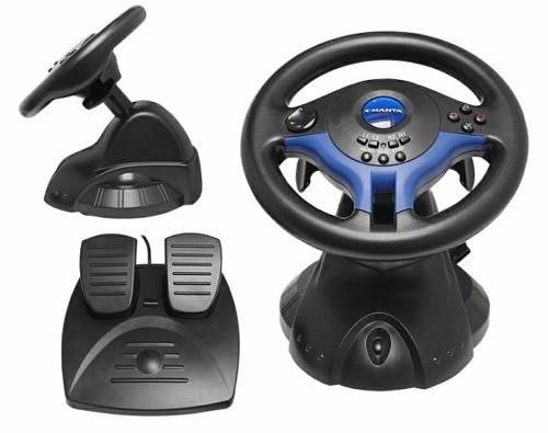 Manta volant Easy Wheel vibrační,pedály+volant, PS3/PS2/PSX/USB