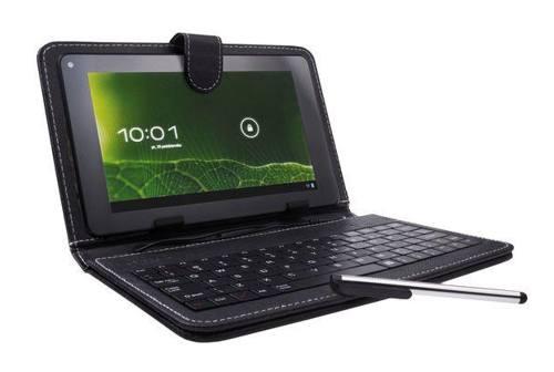 "Pouzdro + klávesnice pro Tablet 7"" Natec Scalar, micro USB, eko kůže, stylus"