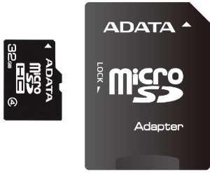 ADATA micro SDHC karta 32GB Class4 + adaptér