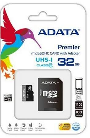 ADATA Premier micro SDHC karta 32GB UHS-I Class10 + adaptér