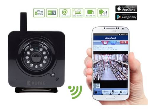 IP kamera Konig WiFi SAS-IPCAM100B - vnitřní