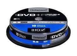 Intenso Print 8.5GB DVD+R DL 10 pack cake 8x