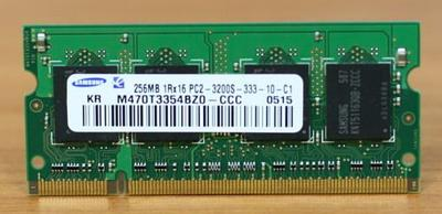 SO-DIMM 256 MB DDR2 400MHz