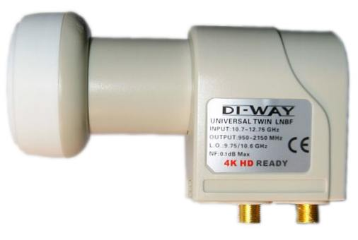 DI-WAY LNB Twin 0.1dB Gold konektory F