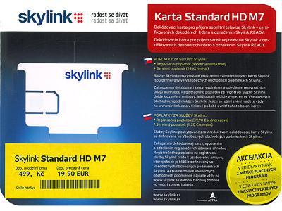 Karta Skylink Standard HD IR M7